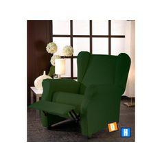 Funda de sofá elástica relax color verde oscuro de muy buena calidad para colocar en el sofá de tu salón, proporciona un tacto suave, una gran adaptabilidad y muy práctica, tejido muy resistente y lavable, ofrece una fácil colocación, se adapta perfectamente al orejero del sofá, es la solución ideal para proteger y decorar este tipo de sofás