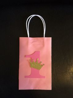 1st Birthday Princess bags by BestPartyEverInc on Etsy