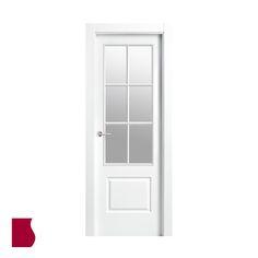 Modelo 9202 AR V6/ LACADA BLANCA / Colección Lacada / Puertas de interior Sanrafael
