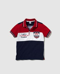 Polo de niño Freestyle tricolor Boys Summer Outfits, Little Boy Outfits, Toddler Boy Outfits, Mens Polo T Shirts, Boys Shirts, Moda Junior, New T Shirt Design, Boys And Girls Clothes, Kids Suits
