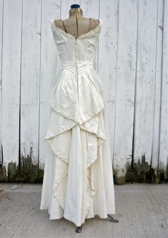 1940s wedding dress / vintage 40s wedding gown / Luminescence dress