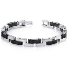 Mens Z Link Brushed Finish Stainless Steel Bracelet. BUY NOW AND SAVE! Use Promo Code Pin9175 AND SAVE 15% ON YOUR ENTIRE ORDER!