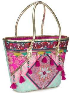 Ethnic bag~Visit www.lanyardelegance.com for Fancy Lanyards and beautiful Crystal Eyeglass Holders for women.