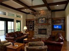 Image result for leather furniture family room