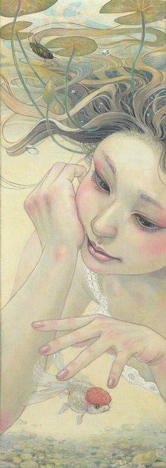 miho hirano ------------------ I LOVE THOSE FISH, I HONESTLY HAD A DREAM OF BEING A FISH DOCTOR TO HELP THESE TYPE OF FISH WHEN THEIR BRAIN GETS TOO BIG
