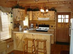 Small cabin kitchen                                                                                                                                                      More