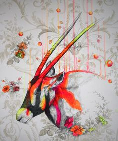 """Saatchi Online Artist: Louise McNaught; Acrylic, 2012, Painting """"Wild environment 2#"""""""