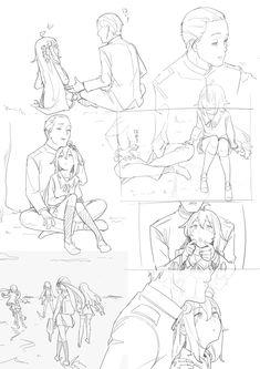 メディアツイート: らくらの(@nr_kura)さん   Twitter Comic Tutorial, Digital Art Tutorial, Anime Drawings Sketches, Art Reference Poses, Art Poses, Learn Art, Comic Layout, Manga Drawing Tutorials, Anime Character Design