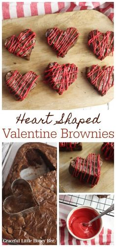 These heart shaped Valentine Brownies are made with a store-bought brownie mix m. These heart shaped Valentine Brownies are made with a store-bought brownie mix making them a quick Valentine Desserts, Valentines Day Treats, Holiday Treats, Kids Valentines, Valentines Baking, Valentine Cake, Valentine Ideas, Valentine Heart, Sugar Cookie Cups