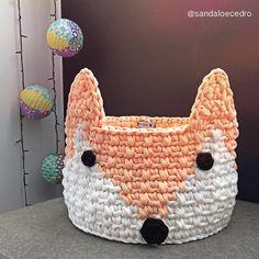 Mais cesto de raposinha indo conhecer a casa nova  #handmade #fox #basket #cesto #feitoamao #organizador #croche #raposa #kids #quartoinfantil #organizar #multiuso #feitonobrasil #casa #instahome #sec