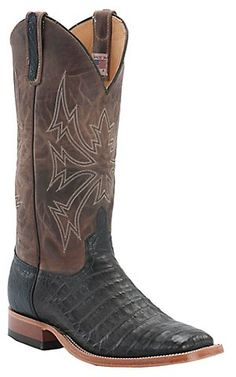 Anderson Bean® Men's Chocolate Crocodile Belly Double Welt Square Toe Western Boot | Cavender's Boot City