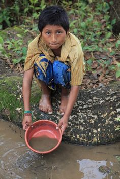 This is the water that this boy and his family in Guatemala must drink on a daily basis. Dirty water causes sickness and disease, which is why we are passionate about providing clean water wells through causelife.