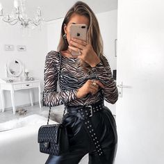 Rockmore Animal Print Black Sexy Bodysuits Transparent Sheer Mesh Bodysuit  Women Long Sleeve See Through Bodies 4ab34b8de
