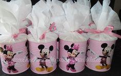 Lembrança  minnie - lata de leite www.facebook.com/aproveitandolata