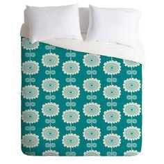Blue Flowers Lightweight Duvet Cover