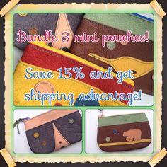 Create a set  pick any 3 mini pouches Save 15 Flat by takakutsu, $71.00