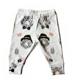 Our new hipster tiger leggings are a Fancy Frogz exclusive! They are made out of excellent cotton and are top quality! They feature a reversible bottom cuff to adjust length if needed. Material: 95% cotton 5% spandex for a cozy fit. Light weight. Background color:...