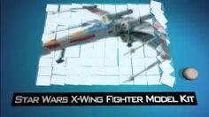 star wars x-wing fighter model kit Star Wars Gadgets, X Wing Fighter, Kit, Stars, Youtube, Model, Scale Model, Sterne