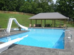 In Ground Pool Kits, In Ground Pools, Backyard Pool Designs, Pool Landscaping, Backyard Ideas, Pool Warehouse, Swimming Pool Kits, Family Pool, Padre Celestial