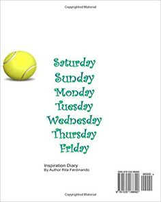 Tennis Diary: Tennis Inspiration on activities... (Diary Series) (Volume 5): Rita Ferdinando: 9781535188890: Amazon.com: Books