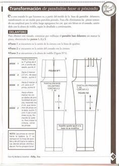 Archivo de álbumes Modelista, Pants Pattern, Sewing Techniques, Sewing Clothes, Pattern Making, Sewing Patterns, Projects To Try, Album, Tips