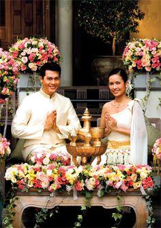 Laos Wedding Cambodian Thailand Ceremony Destination Thai Traditional Dress Dresses