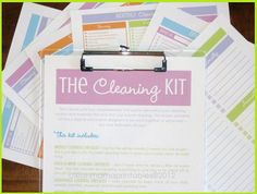 Get your cleaning routine in order with The Cleaning Kit - Clean Mama Printables