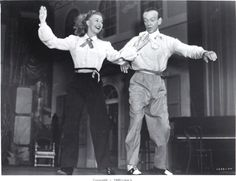 """Ginger Rogers The Barkleys of Broadway 1949 with Fred Astaire dancing """"Bouncin' the Blues""""."""