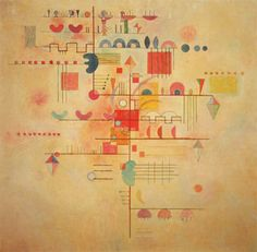 Kandinsky with the Klee influence growing on the lines, points taking a walk Wassily Kandinsky, Abstract Words, Abstract Art, Picasso, Degenerate Art, Art Moderne, Art Abstrait, Art Graphique, Vintage Artwork