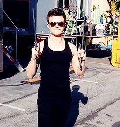 Chris' swordplay  #Glee