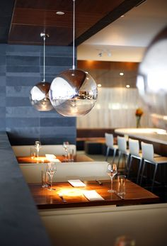 Unique Restaurant Interior, I Like The Lamps