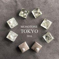 ガラスタイル&大理石タイルとパールのピアス&イヤリング|ピアス|MONOTONE TOKYO|ハンドメイド通販・販売のCreema