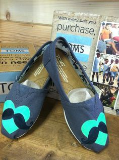 Mustache TOMS by fawcettme on Etsy, $85.00
