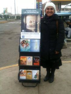 "Pinner writes: ""A personal friend of mine, sister Dulude from Peru!! Cart witnessing!!"""