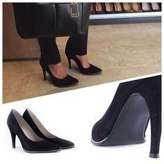 #heels #weloveheels #allblack #cruzesquivel #leather #vogue #trendy #fw16 #newarrivals #fashion #ralph  Look &  ph by @noedevoto