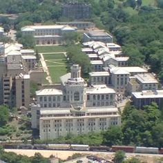 Carnegie Mellon University viewed from the 36th floor of the Cathedral of Learning