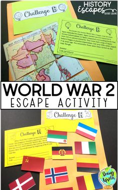 This World War 2 Social Studies Escape Activity is an interactive way for your middle or high school students to review different topics related to WW2 in an engaging way. Your secondary social studies students do not have to solve the challenges in a specific order, nor do your students have to solve all of the challenges to be successful! Three playing options are included. 8 challenges included, and 4 are based on primary sources. Grades 7 and up