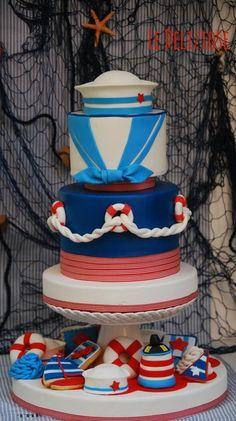 Navy Style Cake & Cupcakes