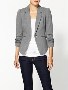 Tinley Road Bleecker Blazer from Piperlime. I love the narrow lapels and the pretty shoulders. $29.99-$69.00