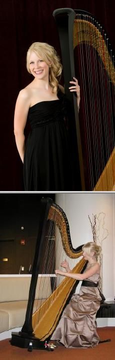 Hire wedding and event harpist Nichole Luchs if you want elegant music played at your venue. Her repertoire ranges in style from classical to modern. She also provides harp lessons.