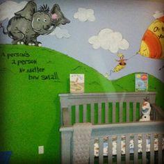 Dr Seuss wall mural Aunt Lulu can do it Pinterest Wall