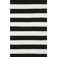 Liora Manne Sorrento Rugby Stripe Black & Ivory Indoor/Outdoor Area... ($36) ❤ liked on Polyvore featuring home, rugs, off white area rug, cream rug, liora manne area rug, ivory area rug and beige rugs