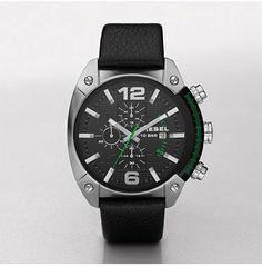 Diesel Men's DZ4206 Leather Quartz Watch with Black Dial Diesel. $160.00. 49mm Case Diameter. 100 Meters / 330 Feet / 10 ATM Water Resistant. Mineral Crystal. Quartz Movement