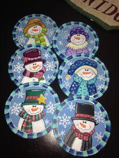 Juego de portavasos Amigos Frosty Navidad Christmas