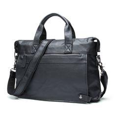 db516ee54b1 Men Leather Business Briefcase Laptop Document Case s660-40 Cow Skin  Messenger Bag Tote Portfolio 14