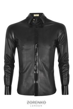 Men's Matte Latex Shirt by ZorenkoLondon