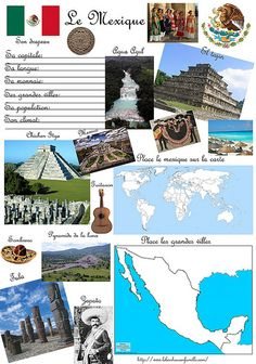 Pérou et Mexique the geography of Mexico (French). This is some pictures of Mexico.