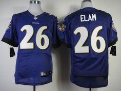 Nike Baltimore Ravens #26 Matt Elam 2013 Purple Elite Jersey