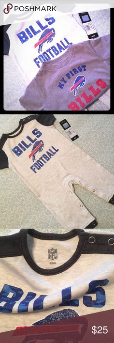 NWT NFL Buffalo Bills One-Pc & Tee Bundle Please feel free to ask questions... NFL Team Apparel One Pieces