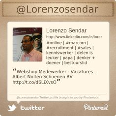 @Lorenzosendar's Twitter profile courtesy of @Pinstamatic (http://pinstamatic.com)